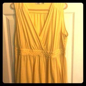Yellow summer cotton dress